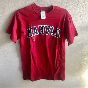 NEW HARVARD Hahvad Accent Tee Red Small NWT